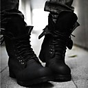 Men's Shoes Round Toe Low Heel Ankle Boots with Lace-up More Colors available