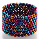 216pcs buckyballs y buckycubes bricolaje 5mm magnéticos bloques bolas juguetes seis colores diferentes