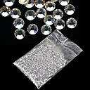 20000Pcs 1.5mm Clear Round Rhinestones Hard Case Nail Art Decorations Acrylic UV Gel
