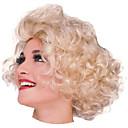 Marilyn Monroe kort krøllete golden 28cm kvinners halloween fest parykk