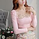 Pink Doll® Women's Lapel Neck Bodycon Cotton T-Shirt