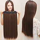 Long Synthetic Straight And Clip in Hair Extensions with 5 Clips