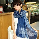 Women's Retro Blue and White Porcelain Lady Scarf Chiffon Scarf(Assorted Color)
