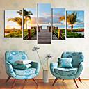 Stretched Canvas Art Coastal Views Scenery Set of 5
