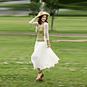 Women's Beige Skirts , Beach/Casual Maxi
