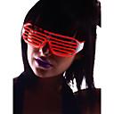 oplichten tinten bril met rode el draad geleid glow zonnebril 2 aa batterijen
