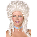 Retro Baroque Style Long Curly White 40cm Women's Halloween Party Wig