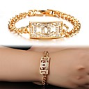 18 K Gold X Plating Mosaic AAA Zircon Ms Gold Bracelet