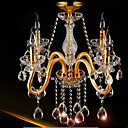 4 Lights,Modern Crystal Chandelier In Gold Color,Crystal & Glass