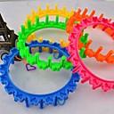 Rainbow Color Loom Style The New Circular Rainbow Aprons Bracelet Weaver(Random Color)