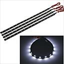 Carking™ 3528-15SMD-30CM Waterproof Car Decorative Lamp Strip-Black(4PCS)
