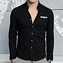Men's Stand Collar Fashion Slim Linen Long Sleeved Shirt