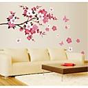 jiubai® blomst træ væg sticker wallstickers