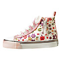 Girls'Shoes Comfort Flat Heel Canvas Fashion Sneakers with Zipper Shoes More Colors available