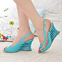 Zeppa peep toe sling delle donne torna sandali scarpe (più colori)