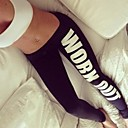 Women's Cotton Letter Print Sports Leggings