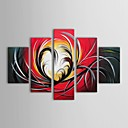 IARTS®Hand Painted Oil Painting Abstract Group Painting with Stretched Frame Set of 5