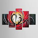 iarts®hand pintura al óleo pintada pintura del grupo del extracto con juego de marco estirada de 5