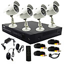 TWVISION® 4 Channel CCTV DVR System(4 Outdoor Warterproof Camera with Sony CCD,P2P)