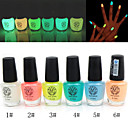 Noctilucent Nail Polish Glow-in-dark(Assorted Colors,6ml)