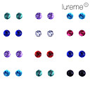 Lureme 12 pairs per Set Shining Diamond Stud Earrings