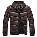 Men's Regular Parka Coat , Polyester Pure Long Sleeve