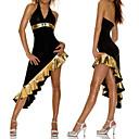 Costume noir sexy robe asymétrique Latin Dance Party