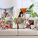 Cotton/Linen Pillow Cover , Novelty Modern/Contemporary