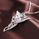 Fashion Flower Pendant Silver Alloy Movie Pendant Necklace(1 Pc)