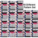 18 set padrão diferente tornando ferramenta padrão de nail art