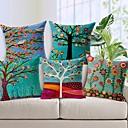 ensemble de cinq beau coton de fleur arbre / linge taie d'oreiller décoratif