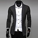 Men's Striped/Pure Cardigan , Cotton Long Sleeve