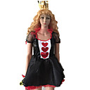 Queen of Heart Black and Red Polyester Gothic Costume