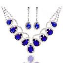 Conjunto de jóias Pérola/Strass Liga Mulheres