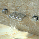 Contemporary Waterfall Faucet Waterfall Bathroom Sink Faucet (Wall Mount)