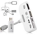 5in1 micro USB MHL la HDMI adaptor HDTV kit de conectare conector + TF / card SD cablul cititorului + date OTG pentru Samsung