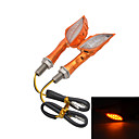 Motorcycle LED  2W 112LM 12-LEDs Yellow  Light Turn Signals / Motorcycle Brake Lights