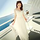 Women's Chiffon Bohemian ½ Length Sleeve Maxi Dress