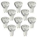 LOHAS® 10PCS GU10 6W 530-580LM 6000-6500K Cold White Light LED Spot Bulb (AC 110-240V)