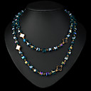 European And American Fashion New Metal Austria Crystal Necklace(Assorted Colors)