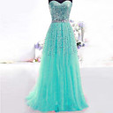 Formal Evening Dress A-line Sweetheart Floor-length Sequined Dress