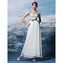 Formal Evening Dress A-line Jewel Ankle-length Chiffon/Lace