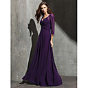 TS Couture Formal Evening Dress - Grape Plus Sizes / Petite A-line Sweetheart Floor-length Lace / Georgette