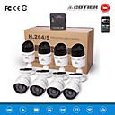 cotier®8ch NVR Kits HD Mini-NVR 720p / 960p / 1080p / p2p / Nachtsicht / IP-Kamera n8b-mini