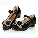 Girls' Shoes Party & Evening/Casual Heels/Round Toe/Closed Toe Leatherette Heels Black/White