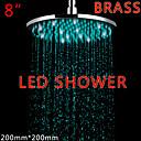 Ducha lluvia Contemporáneo LED / Efecto lluvia Latón Cromo