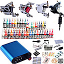 tatueringsmaskin komplett sats set 4 vapen maskiner 40pcs tattoo ink tattoo kit