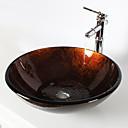 Waschbeckenset für Badezimmer - Antik - Hartglas ( Hartglas )