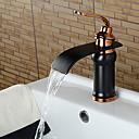 henkilökohtainen kylpyhuone pesuallas hana öljy-hierotaan pronssi viimeistely yksi kahva
