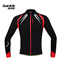 Santic Men's Cycling Jacket / Cycling Jersey Long Sleeve Warm Fleece Windproof Cycling Jacket Spandex+Fleece C01023R